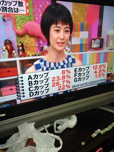 日本女性40%以上がDカップ以上だった