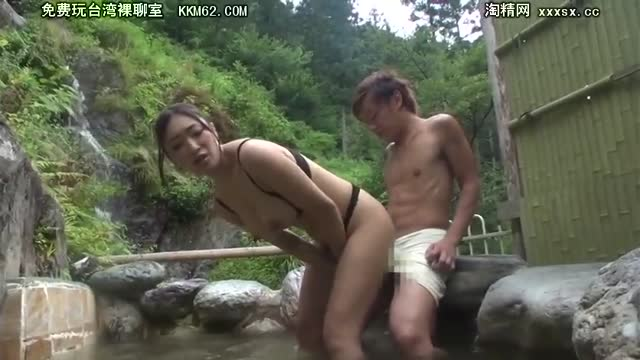 レイプ≫ 小早川怜子 露天風呂で爆乳痴女が出現!男を誘惑して逆レイプ・・フル勃起を弄んで絶頂