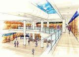 西船橋駅改札内コンコース完成予想図・やすらぎの吹抜空間