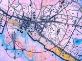 1880(明治13)年4月:船橋灯明台1Kmの範囲