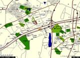 千葉県印西市・千葉ニュータウン中央駅・中域地図