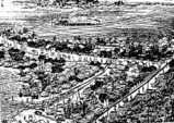 千葉街道図(船橋2)・総武鉄道(JR総武線)開通直後・鳥観図