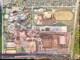 1974(昭和49)年:千葉県船橋市浜町・船橋ヘルスセンター・山一證券(国土画像情報(カラー空中写真)国土交通省)現在の地図合成