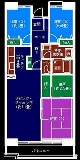 習志野市谷津3・谷津パークタウン・都市機構賃貸住宅-T-タイプ3LDK+S-71m2