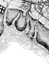 1880(明治13)年:船橋海老川河口地図