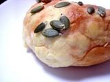 20050226-船橋市浜町2・ららぽーと・東京パン屋ストリート・オープン・北海道のパン工房ドリーム・カボチャメロンパン-1100-DSC05432