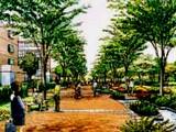 津田沼駅南口再開発・中央部の緑道のイメージ図010
