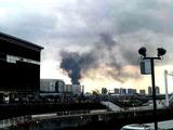20110311_東日本巨大地震_お台場でビル火災中_255925585T