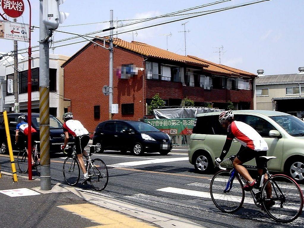 自転車の 津田沼 自転車 : ... 津田沼駅前交差点の自転車専用