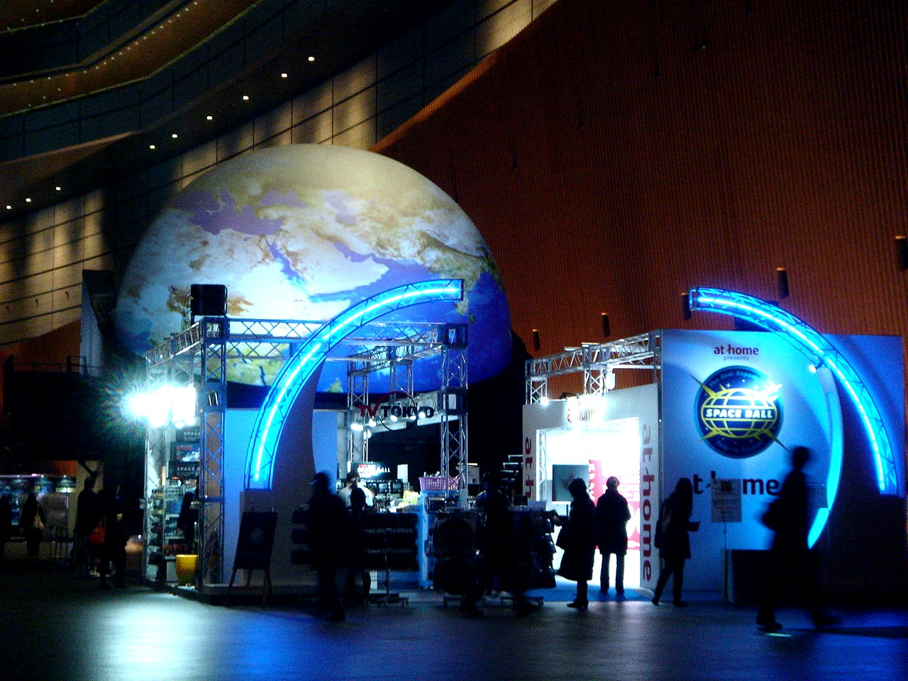 東京ベイ船橋ビビット2013-2012 : 360度プラネタリウムのスペースボール@東京国際フォーラム(1)