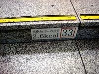 20140723_JR京葉線_東京駅_ホーム階段_カロリー_0821_DSC00380