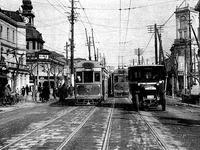 1921年_大正10年_東京銀座_銀座中央通り_路面電車_トヨタ車_112