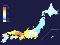 2014年_都道府県別世帯のパン購入量偏差値_114