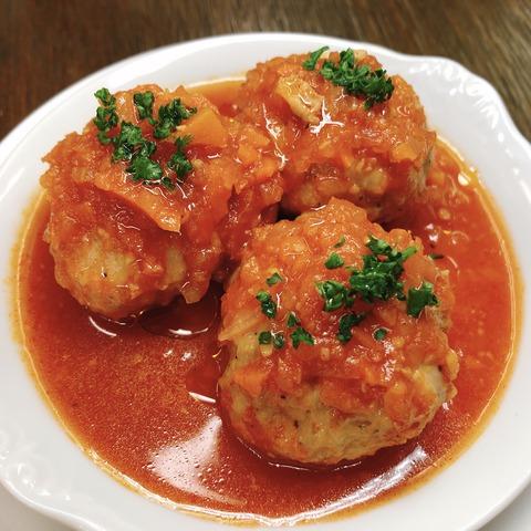 アルボンディガス〈スペイン風ミートボールのトマト煮込み〉