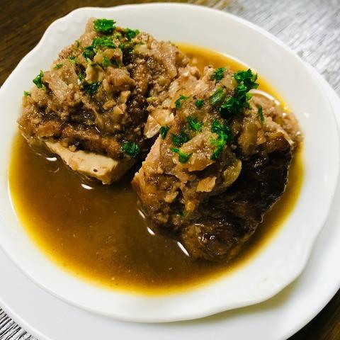 鶏もも肉の赤ワイン煮込み
