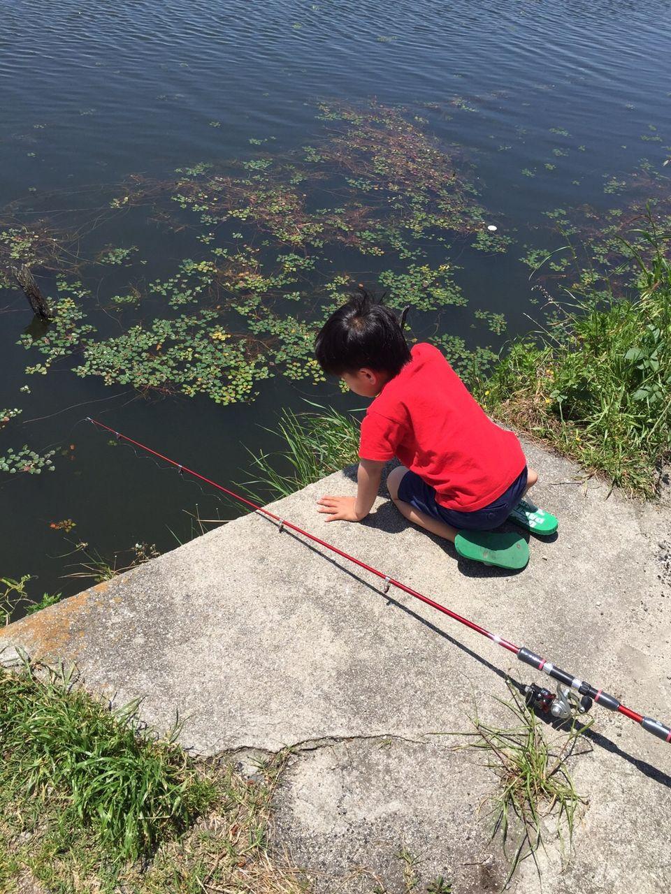 自転車の 自転車 転倒 子供 : 子供達は、魚が釣れなくて ...