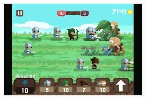 Pixel Kingdom - ドット絵キャラの懐かしい感じのラインディフェンス。