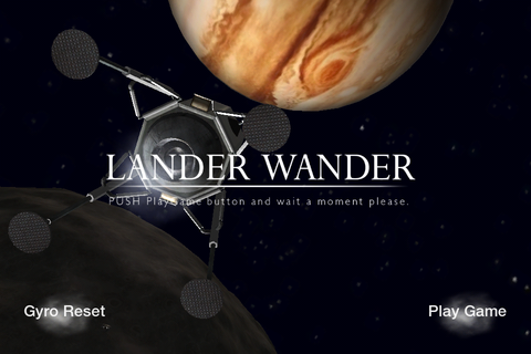 Lander Wander - 美麗。木星衛星軌道上の着陸機操縦シミュレーション。