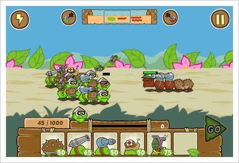 Battlepillars - 武器を搭載した体のパーツ繋げて戦うイモムシRTS。
