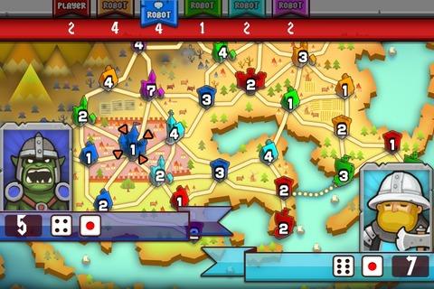 Conquer - 雰囲気の良い変則RISK系戦略ゲーム。