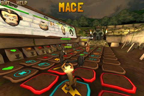 Battle Monkeys - パネルの上で戦うターン制ボードゲーム。