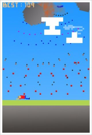 PixelFall - 空から飛来するピクセルを避けましょう。