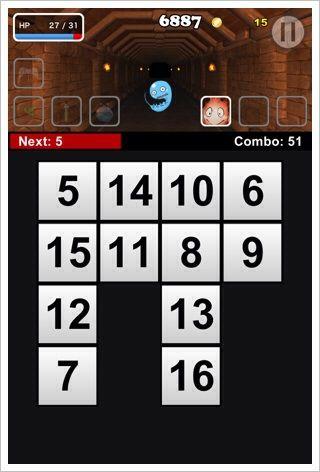 Touch Quest - やりたい感じは伝わる脳トレ風のRPG。