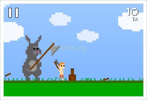 Super Lumberjack - そのまき割りに終わりはない。癖になる8ビットゲーム。