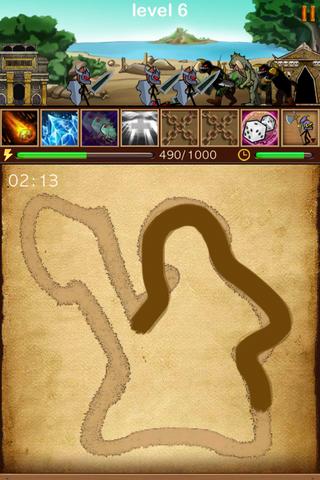 The resurrected army of wizard - お絵描きで敵を倒していくRPG風パズル。