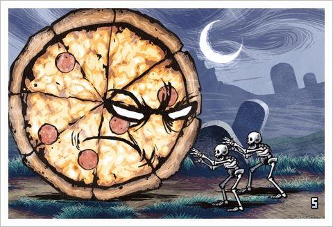 Pizza Vs. Skeletons - ピザとスケルトンが戦うおバカゲーが無料。