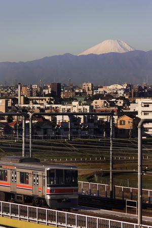 富士の見える朝