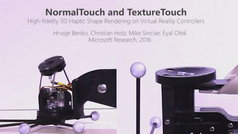 【VR】マイクロソフト、VR空間で物体の形状や固さを指に伝えるコントローラを開発!のサムネイル画像