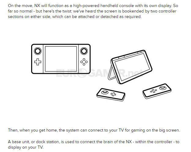 任天堂の次世代ゲーム機「NX」は携帯/据え置きのハイブリッド型ゲーム機!のサムネイル画像