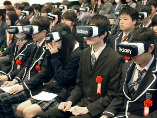 【画像】VRを使い沖縄と東京で入学式 ネット通信高校が開校wwwwwwwwwのサムネイル画像