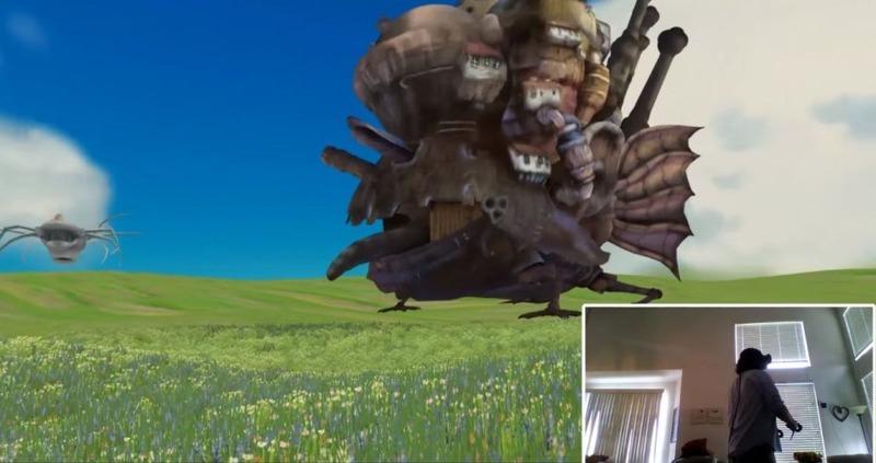 【動画あり】ジブリが「トトロ」「ハウルの動く城」のVR版を制作!!のサムネイル画像