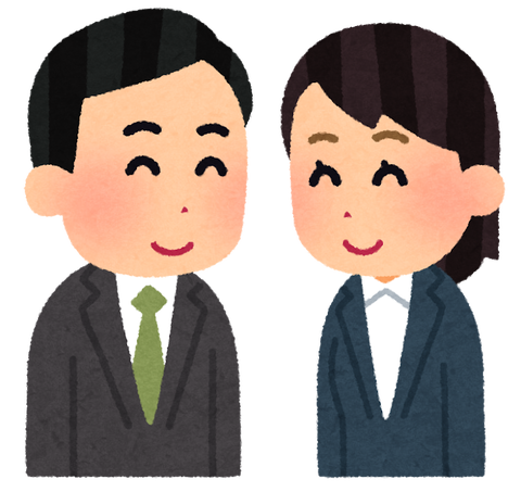 couple_egao_businessman_woman
