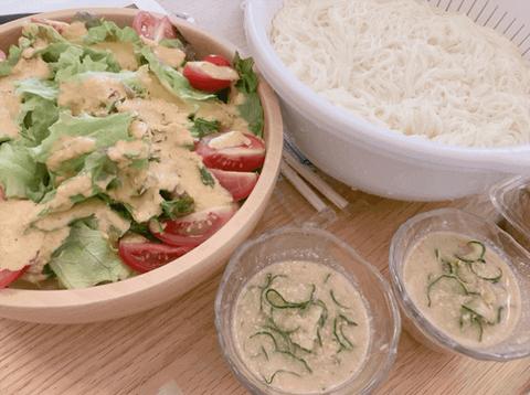 【悲報】辻希美さん「真夏でもないのに…」お昼の素麺とサラダでぶったたかれる
