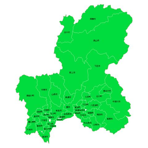 【悲報】岐阜県の地形図WWW