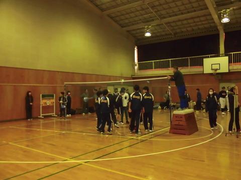 ソフトバレーボール大会(試合終了挨拶)