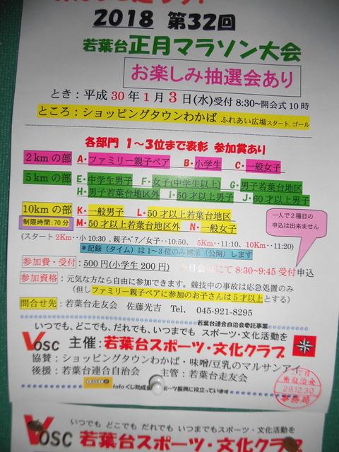 正月マラソンポスター