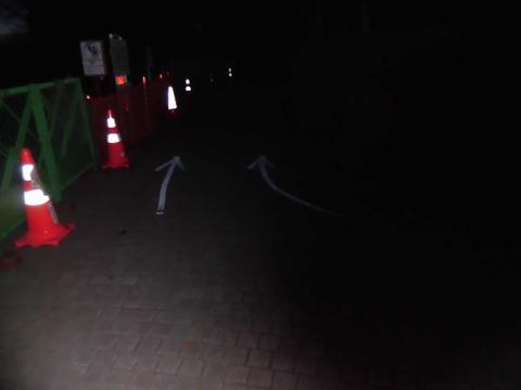 マラソン大会道路矢印