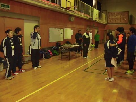 ソフトバレーボール大会(南理事長挨拶)