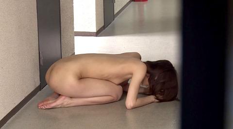這いつくばって全裸土下座する女の画像 上波多一花 -SMJP