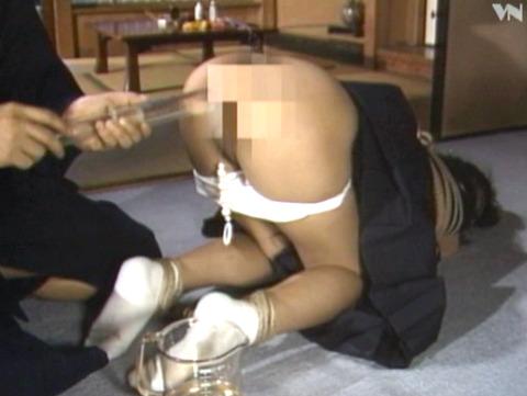 排泄管理されて 浣腸される女 苦しむ女の AVエロ画像 shimazaki09