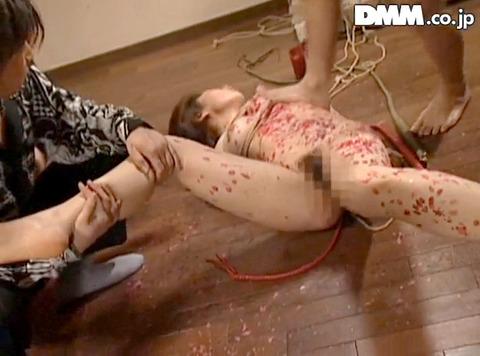 マゾ女踏みつけられて制圧される女のAVエロ画像 kasagi20