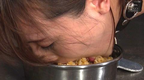 kizaki100  犬のように這いつくばって食事する女 犬食い女