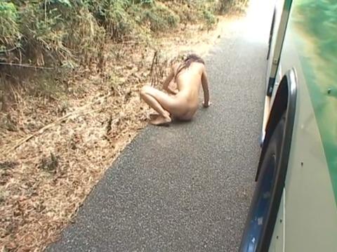 全裸野外放置される女のAVエロ画像 om254_11