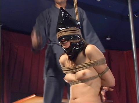 猿轡 口枷 をされる女 の 口拘束 AV エロ 画像 kase21_1