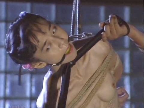 猿轡 口枷 をされる女 の 口拘束 AV エロ 画像 natumemasami04