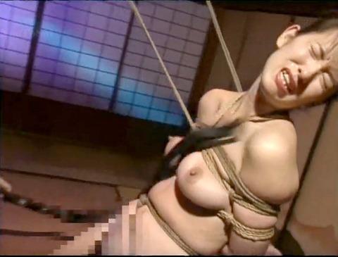 恐怖と激痛の胸への鞭責めSM調教女/胸鞭AVエロ画像hosokawayuriko33